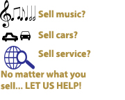 Let us help you sell your product, service, or idea quickly!